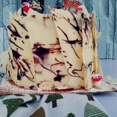 浓浓圣诞风之巧克力树桩蛋糕