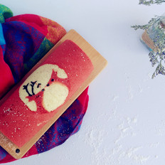 情人节礼物之浓情蜜意麋鹿彩绘蛋糕卷