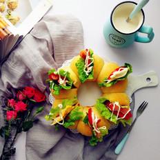 花朵全麦早餐包(二发冷藏发酵法)
