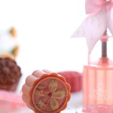 超高颜值的桃山皮月饼