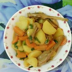 土豆胡萝卜焖鸭