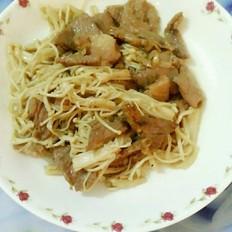 瘦肉炒金针菇