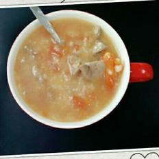 猪肝番茄粥