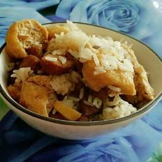 梅肉豆泡焖饭