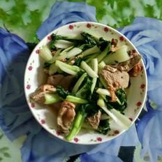 烧鸭炒小白菜