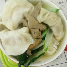 猪肝白菜水饺