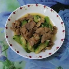 肉片炒丝瓜