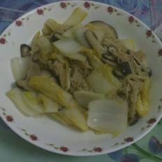 白菜炒双菇