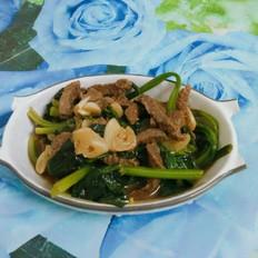 牛肉炒菠菜