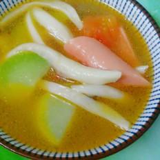 火腿蟹菇汤