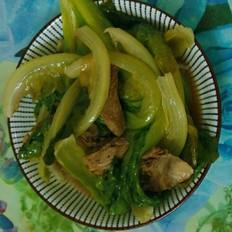 生菜炒鸭肉