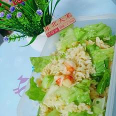 虾仁生菜炒胚芽米饭