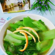 虾壳海鲜味芥菜汤