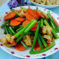 年夜饭硬菜之蒜苔炒虾仁