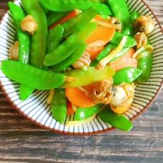 荷兰豆炒螺肉