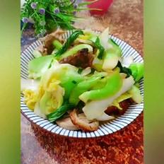 杂蔬炒烧鸭的做法