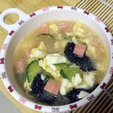 豆花杂蔬汤