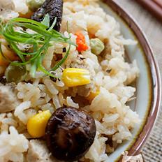香菇肉丸焖饭