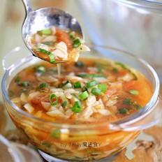 西红柿油菜面片汤
