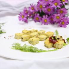 橄榄油孜然黄金豆腐