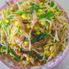 韭菜豆芽炒粉条