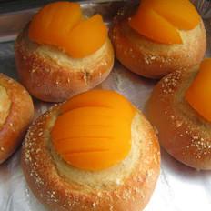 奶香黄桃面包