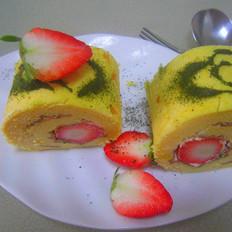 心心相映草莓蛋糕卷