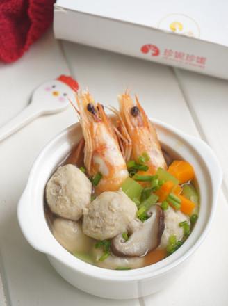 鲜虾肉丸汤的做法