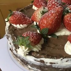 抹茶草莓芝士蛋糕