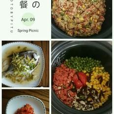 青豆玉米拌饭