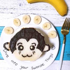 芝士香蕉小猴三明治
