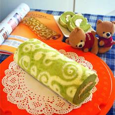 绿茶彩绘蛋糕卷