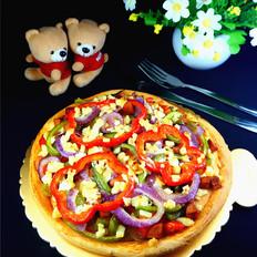 杂蔬火腿披萨