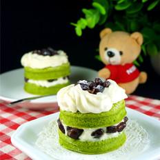 榴莲绿茶蜜语蛋糕
