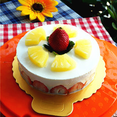 香梨水果慕斯蛋糕