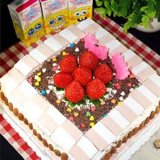 棉花糖生日蛋糕