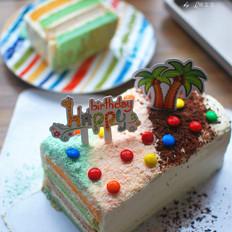 彩虹蛋糕(长方形)