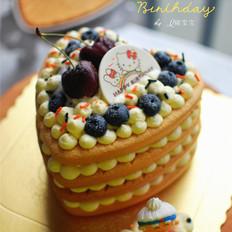 6寸心形裸蛋糕