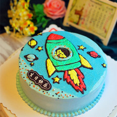 小火箭生日蛋糕