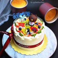 6寸加高水果蛋糕