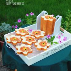罂粟花插画面包