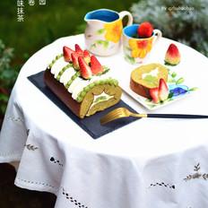 丸九小山园名物蛋糕卷--抹茶