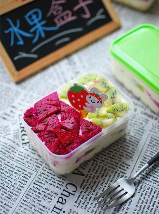 水果盒子蛋糕的做法