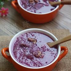核桃紫薯银耳粥