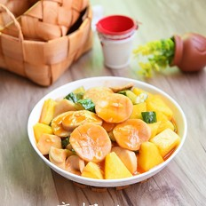 菠萝炒鸡腿菇