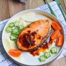 黑椒汁三文鱼扒的做法大全