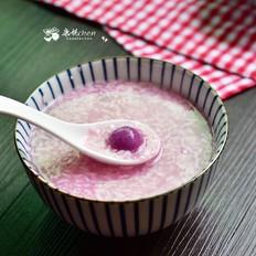 紫薯丸子酒酿