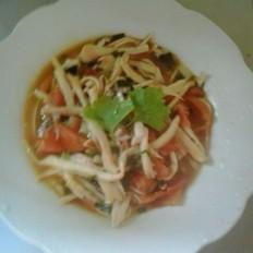 西红柿炒杏鲍菇