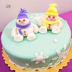 雪娃娃翻糖蛋糕