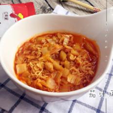红果家菜谱之美味茄汁汤面